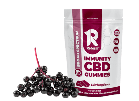 elderberry immunity cbd gummies